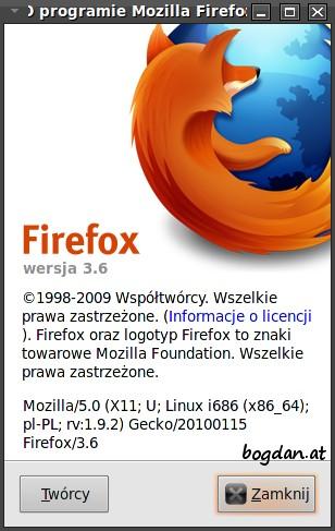 O Firefox, wersja 3.6
