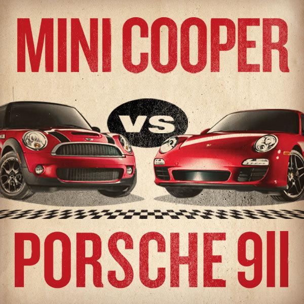 Mini vs. Porsche