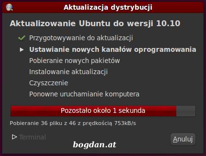 Aktualizacja Ubuntu 10.04 do 10.10